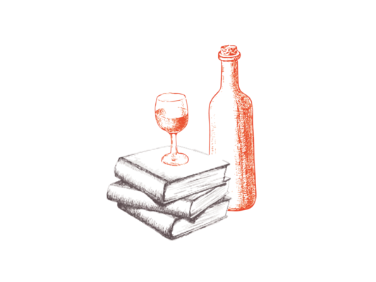 bouteille et bouquins