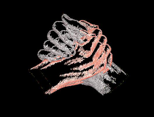 mains se serrant